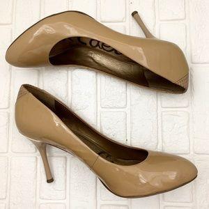 Sam Edelman camdyn nude patent leather heels